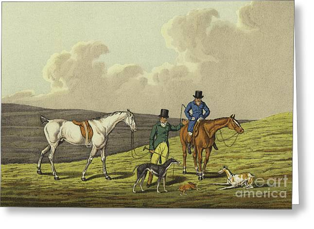 Hare Coursing Greeting Card by Henry Thomas Alken