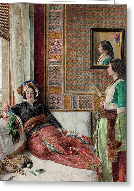 Harem Life  Constantinople Greeting Card by John Frederick Lewis