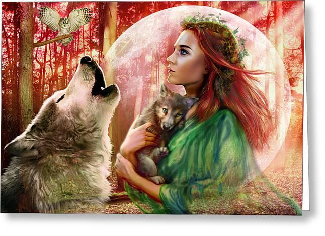Harest Moon Brethren Variant 2 Greeting Card by Andrew Farley