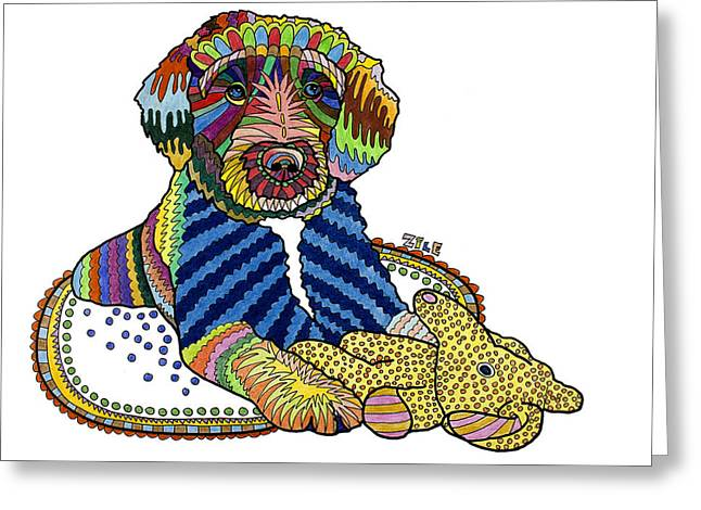 Hari Greeting Cards - Hari Greeting Card by Please Draw My Dog