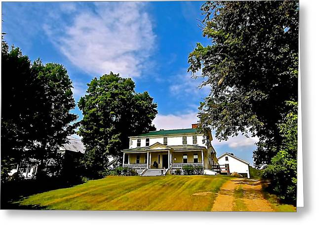 Historic Home Greeting Cards - Harkness House Greeting Card by Elizabeth Tillar