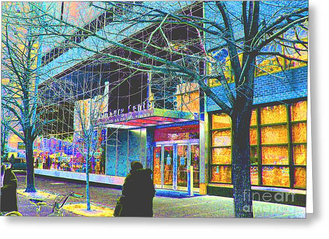 Steven Huszar Greeting Cards - Harlem Street Scene  Greeting Card by Steven Huszar