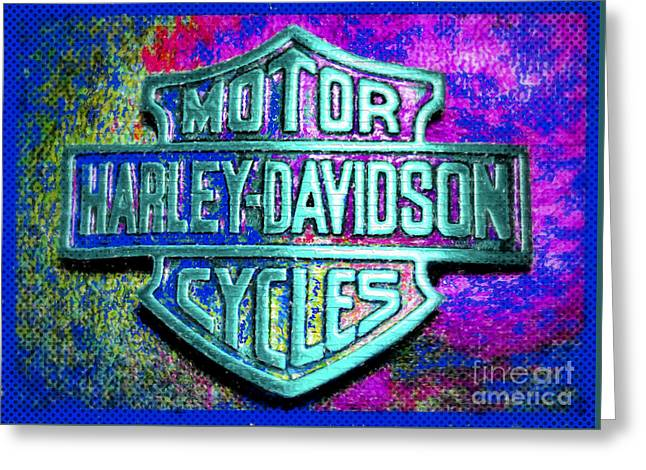 Artistic Photography Greeting Cards - Harley Davidson Abstract Greeting Card by C W Hooper