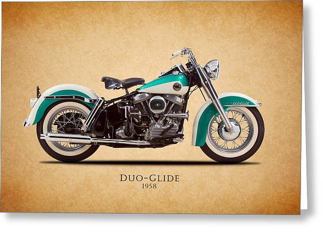 Glide Greeting Cards - Harley-Davidson Duo-Glide 1958 Greeting Card by Mark Rogan