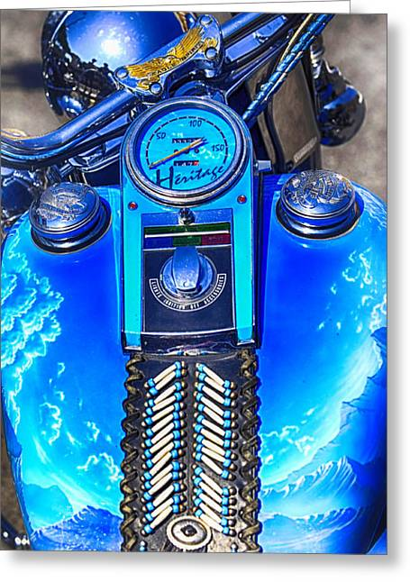 Speedometer Greeting Cards - Harley Davidson Eagle Spirit Greeting Card by Stefano Senise