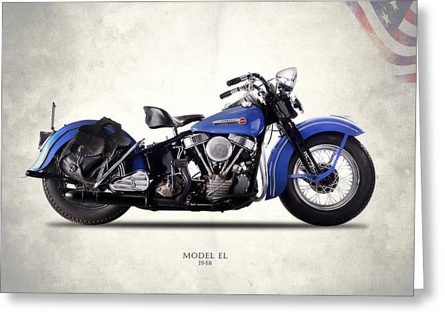Harley-davidson El 1948 Greeting Card by Mark Rogan
