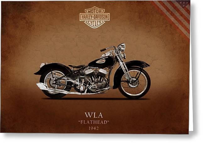Motorcycles Greeting Cards - Harley Davidson Flathead Greeting Card by Mark Rogan