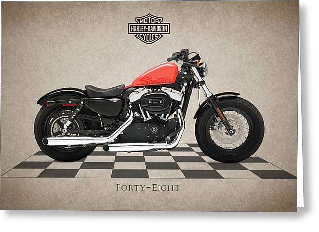 Eight Greeting Cards - Harley Davidson Forty-Eight Greeting Card by Mark Rogan