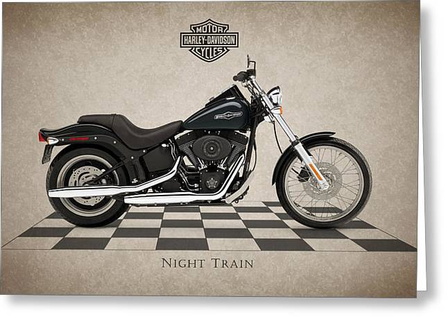 Motorcycles Greeting Cards - Harley Davidson Night Train Greeting Card by Mark Rogan