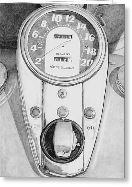 Photorealism Greeting Cards - Harley Davidson Greeting Card by Rob De Vries