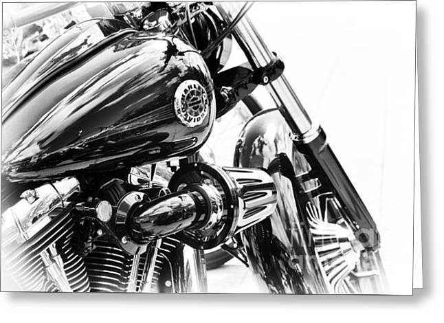 V Twin Greeting Cards - Harley Davidson Softail Breakout Greeting Card by Tim Gainey