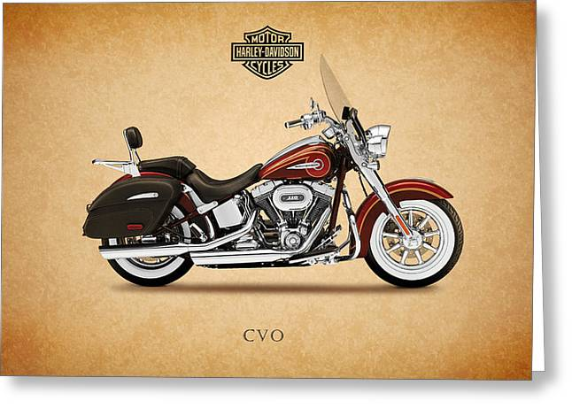 Motorcycles Greeting Cards - Harley Davidson Softail Deluxe Greeting Card by Mark Rogan