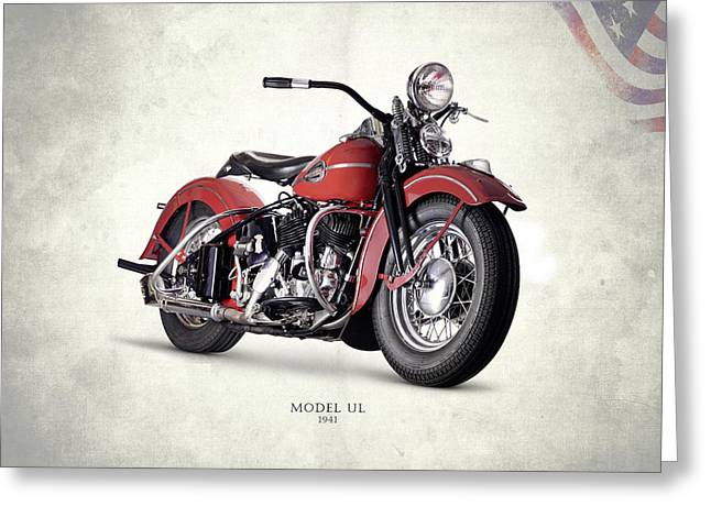 Harley-davidson Ul 1941 Greeting Card by Mark Rogan