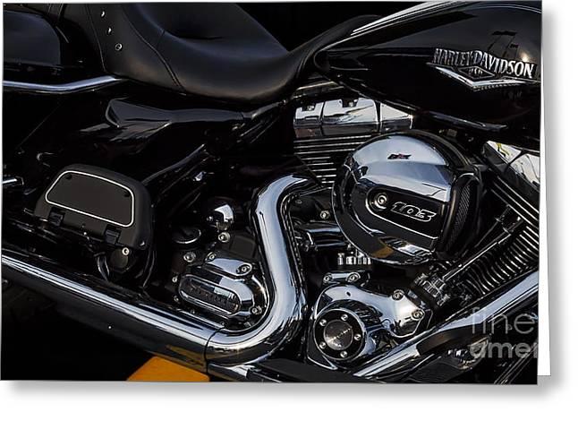 Usa Photographs Greeting Cards - Harley Davidson USA Greeting Card by Susan Candelario