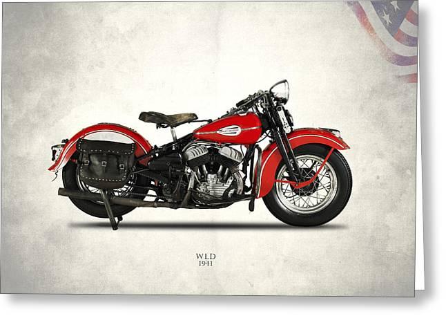 Harley-davidson Wld 1941 Greeting Card by Mark Rogan