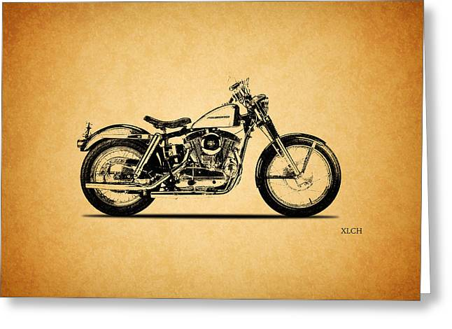 Harley Davidson Greeting Cards - Harley Davidson XLCH 1964 Greeting Card by Mark Rogan