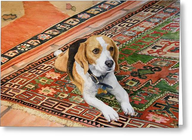 Beagle Prints Greeting Cards - Harley Greeting Card by Debra Jones