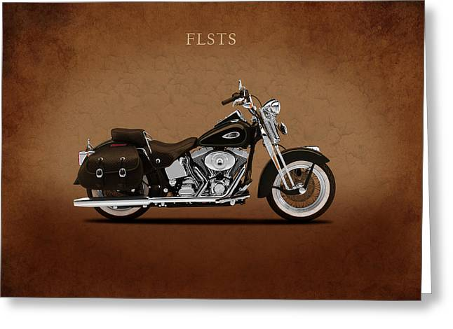 Harley Heritage Springer Greeting Card by Mark Rogan