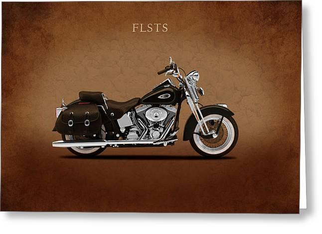 Heritage Greeting Cards - Harley Heritage Springer Greeting Card by Mark Rogan