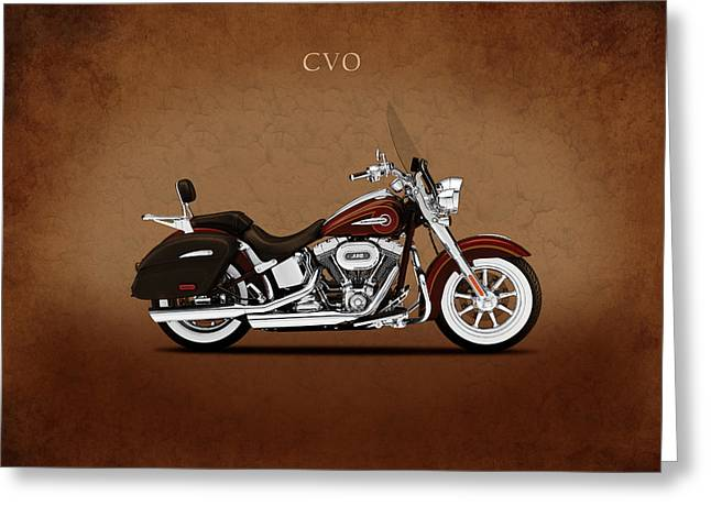 Harley Softail Deluxe Greeting Card by Mark Rogan