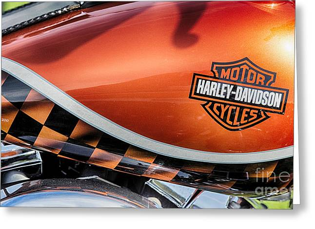 Gas Tank Greeting Cards - Harley Softail Tank Greeting Card by Tim Gainey