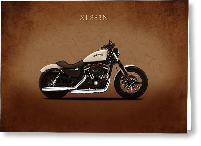 Harley Sportster Iron Greeting Card by Mark Rogan