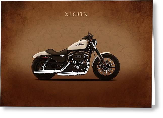 Glide Greeting Cards - Harley Sportster Iron Greeting Card by Mark Rogan
