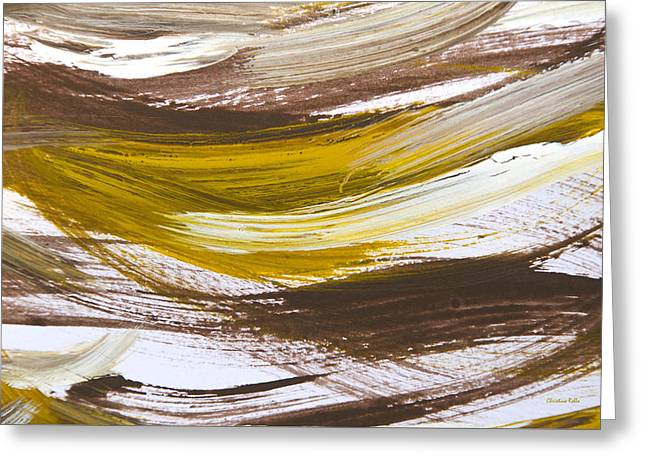 Printed Greeting Cards - Harmony Abstract Painting Greeting Card by Christina Rollo