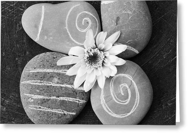 Harmony and Peace Greeting Card by Linda Woods