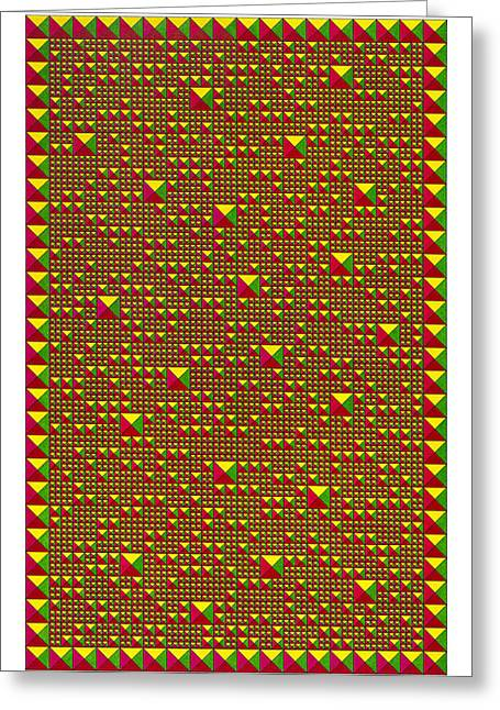 Optical Art Drawings Greeting Cards - Harmony Color Greeting Card by Roger Hampel