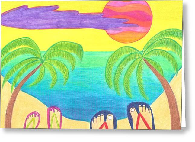 Feet Greeting Cards - Harmony Cove Greeting Card by Geree McDermott