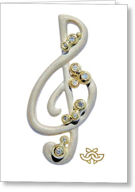 Unity Jewelry Greeting Cards - Harmony Greeting Card by Jane A  Gordon