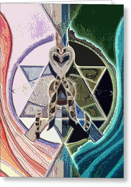 Recently Sold -  - Horus Greeting Cards - Harmony of Duality Greeting Card by Saarah Esther Felix