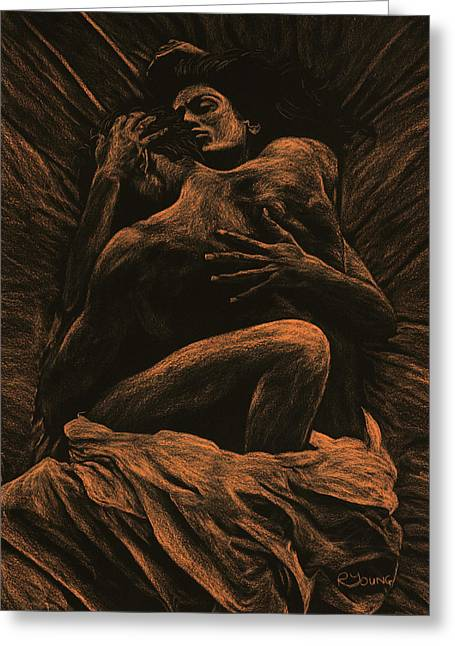 Semi-nude Greeting Cards - Harmony Greeting Card by Richard Young