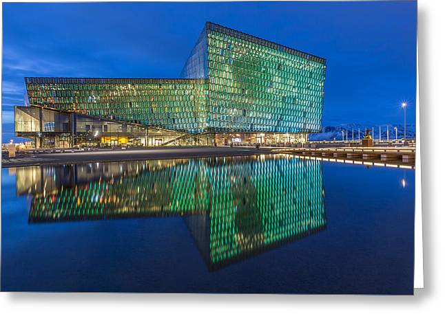 Theater Greeting Cards - Harpa Theater - Reykjavik - 2 Greeting Card by Christian Tuk