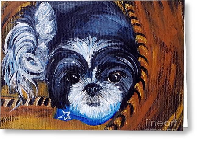 Doggies Greeting Cards - Harper Greeting Card by Deb Arndt