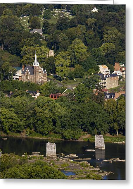 Harpers Ferry West Virginia On The Banks Of The Shenandoah And Potomac Rivers Greeting Card by Brendan Reals