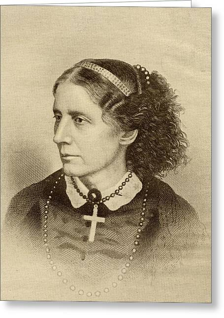 Reformer Greeting Cards - Harriet Beecher Stowe, 1811-1896 Greeting Card by Ken Welsh