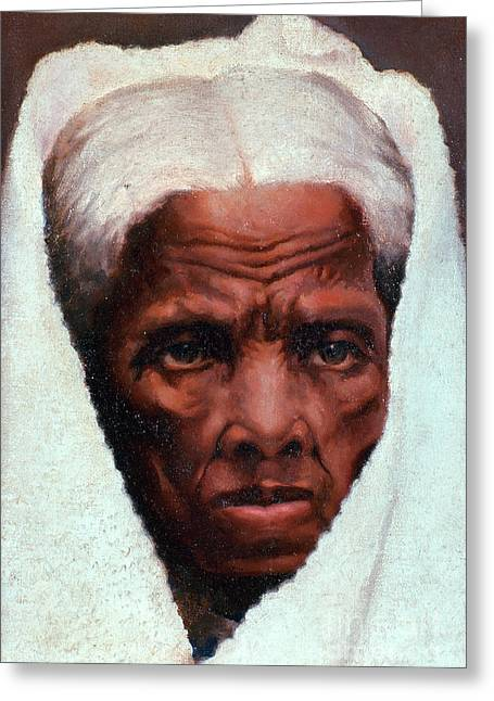 Slavery Greeting Cards - Harriet Tubman, African-american Greeting Card by Photo Researchers
