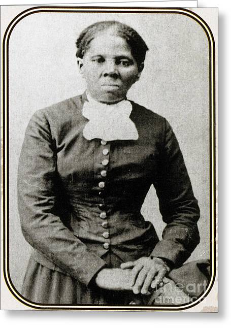 Slavery Greeting Cards - Harriet Tubman, American Abolitionist Greeting Card by Photo Researchers