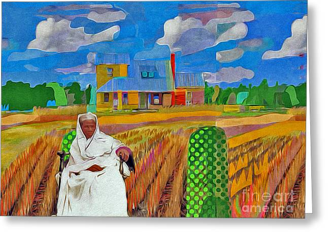 Slavery Paintings Greeting Cards - Harriet and The Station House Greeting Card by Joe Roache