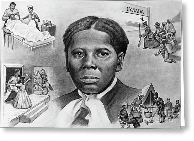 Tubman Greeting Cards - Harriet Tubman Greeting Card by Curtis James