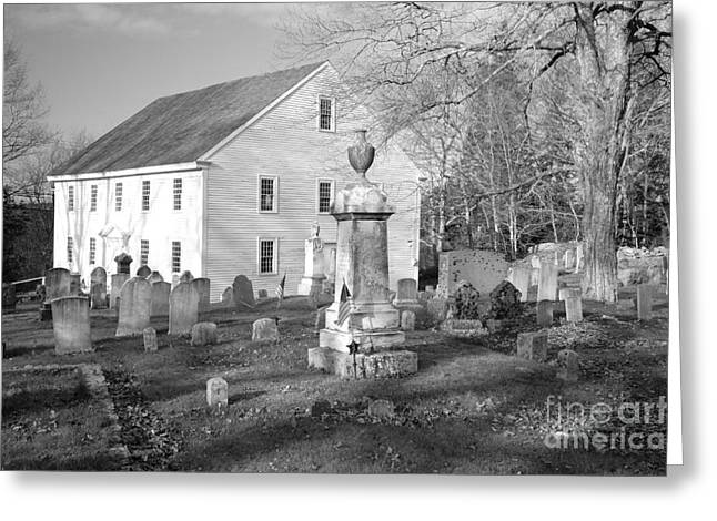 Old Maine Houses Greeting Cards - Harrington Meetinghouse -Bristol ME USA Greeting Card by Erin Paul Donovan