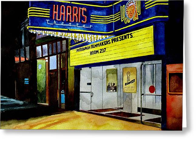 Harris Theater Pittsburgh Pennsylvania Greeting Card by Christopher Shellhammer