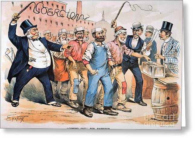 Monopoly Greeting Cards - Harrison Cartoon, 1888 Greeting Card by Granger