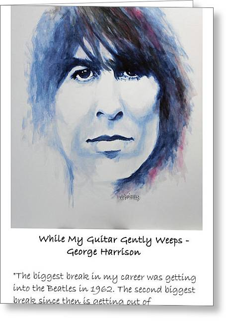 William Walts Greeting Cards - Harrison - quote Greeting Card by William Walts