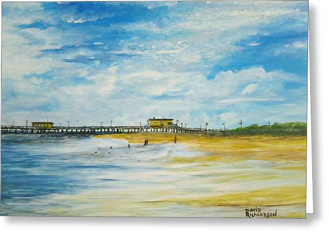Amusements Greeting Cards - Harrisons Fishing Pier  Greeting Card by David Richardson