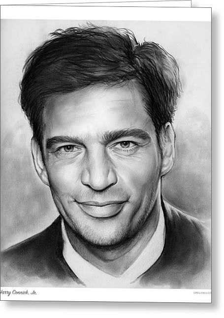 Harry Connick, Jr. Greeting Card by Greg Joens