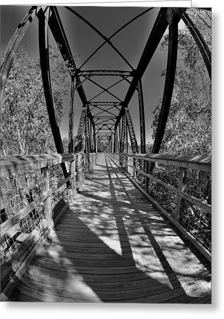 Harry Easterling Bridge Peak Sc Black And White 2 Greeting Card by Lisa Wooten