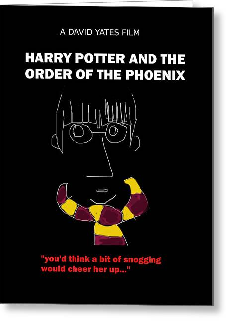Harry Potter Phoenix Movie Poster Greeting Card by Enki Art